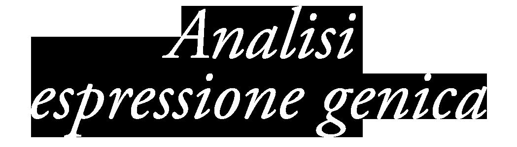 Analisi espressione genica